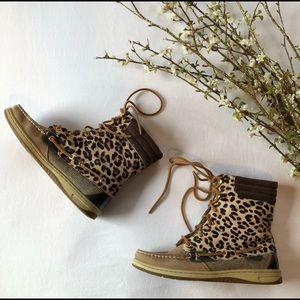 👢Sperry Cheetah Hide Boots
